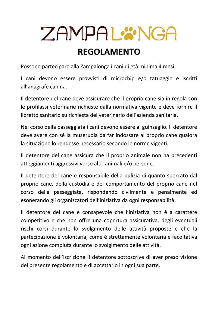 Regolamento-Zampalonga